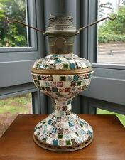 RARE Original Aladdin Model 11 Mosaic Ceramic Glass Oil Lamp Burner NO shade