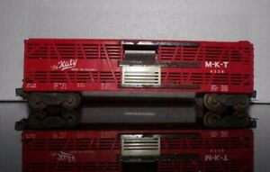 Vintage Lionel PW 6556 M-K- T Katy Red Live Stock Train Car w/white lettering