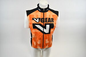Verge Men's XL V-Gear Thermo Vest Thermal Winter Cycling Orange