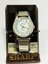 Vintage Sharp Mechanical Windup Wrist Watch NEW OLD STOCK FROM THE 80s(653707)