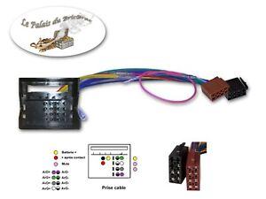 Câble adaptateur - Faisceau Autoradio connecteur ISO pour Peugeot - Citroën