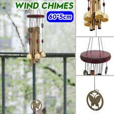 New listing Copper Wind Chimes Large Tone Resonant Bell 5 Tubes Chapel Church Garden