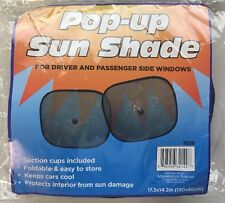 2 Pcs Car Sun Shade Pop-Up for Driver And Passneger side Windows New