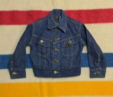VTG 50s Lee Riders USA Union Made Sanforized Indigo Button Denim Jacket Kids 4