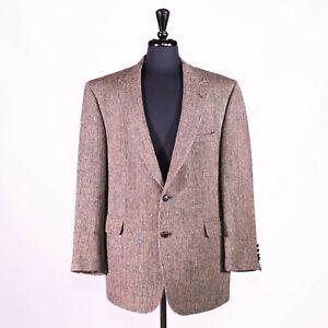 Jos. A. Bank Men's Blazer Harris Tweed Wool Herringbone Sport Coat Jacket 44R