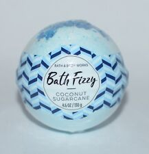 NEW BATH & BODY WORKS COCONUT SUGARCANE BATH FIZZY BOMB BALL 4.6OZ SCENTED BLUE