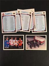 1990/91 Upper Deck Hockey Checklist Set Plus Zamboni 9 Total Cards