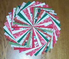 "48 Christmas Winter Holiday 5"" Quilt Squares Charm pack"