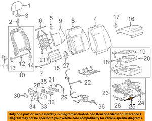 GM OEM Passenger Seat-Adjust Motor 13578629