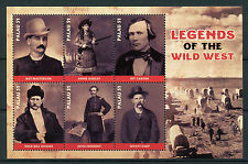 Palau 2017 MNH Wild West Legends Annie Oakley Wyatt Earp 6v M/S Stamps