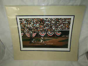 BASEBALL HOF MEMBER LITHOGRAPH HANK AARON 57 WS SIGNED WILLIAM PURDOM #318/1000