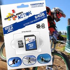 64GB Action microSD SDHC SDXC Speicher-Karte/-Card Class10/CL10 für GoPro Hero4