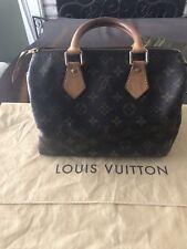 Authentic LOUIS VUITTON Monogram Speedy 25 Boston City Handbag France W Lock