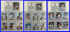 2018 LOS ANGELES DODGERS 60th ANNIVERSARY SGA 50s & 60s 70s 80s7-CARD SET #1 2 3