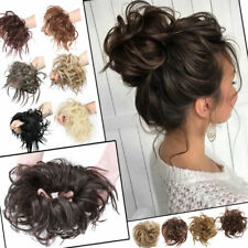 US LARGE Messy Bun Scrunchie Hair Extensions Thick Ponytail As Human Hair Piece