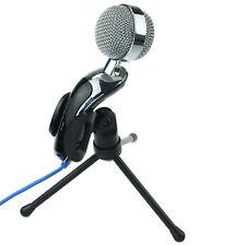Computer Desk Stand Microphones Studio Dynamic Mic VoIP Skype Desktop Microphone