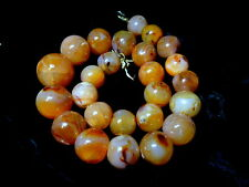 Necklace made of Antique Ancient Carnelian Agate Beads Nepal Tibet Eye Dzi