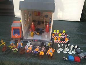 Playmobil Bauhof mit Kehrmaschine