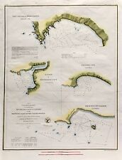 Antique U.S. Coast Survey Map Western Coast of the United States (1854)