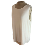 Chicos Travelers Stretch Knit Tank Top White Size XL