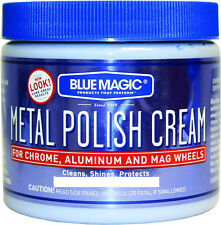 Blue Magic METAL POLISH CREAM Clean Shine Protect CHROME ALUMINUM & MAG WHEELS