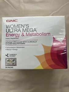 GNC Women's Ultra Mega Energy & Metabolism Vitapak Program 30 Packs EXP 04/21
