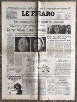 N105 La Une Du Journal Le Figaro 22 Mai 1978