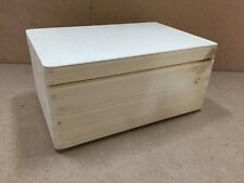 * Pine wood box & lid 30x20x14cm DD168NH child memory chest case stack  (Z1)