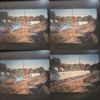 Original Slides x 4 Conrail Retired #3438 EMD SD40-2 Hauling Huge Load 2000s (c)