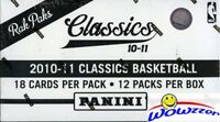 2010/11 Panini Classics Basketball HUGE Factory Sealed Jumbo Fat Box-216 Cards!