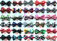 Wholesale Pet Dog Cat Bow Ties Dog Collar Polyester Dog Necktie Adjustable Ties