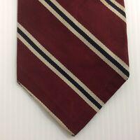 Robert Talbott Vintage MENS TIE NECKTIE 3.75 in Silk Burgundy Gray Black USA