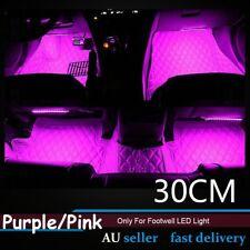 4x Purple/Pink 30CM LED Strip Light Car Interior Footwell Floor Lamp Decorative