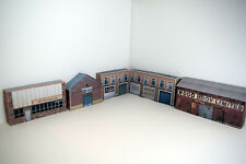 More details for 1/76 card oo gauge pack of 5 industrial buildings for model railways (set 003)