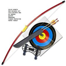 Other archery bows ebay family recurve junior red youth longbow set 3xarrows 5 x 40cm targets solutioingenieria Image collections