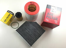 Ölfilter Luftfilter Aktivkohlefilter Audi A6 4G2 4GH 4G5 C7 3.0 TDI
