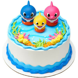 BABY SHARK Cake Decoration Party Supplies TOPPER KIT Ocean Animals Birthday Baby