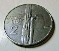 BUONO DA 2 LIRE 1927  BB/SPL originale  NI RR