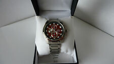 Orient Chronograph 3 sub dials, Men's watch metal bracelet