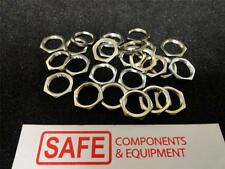 Panel Nut 12M 12mm Thread 14mm Hex 2mm Ht PLATED BRASS QTY-10 Jam Lock-Nuts P41