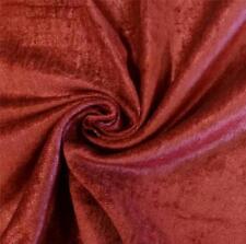 "Burgundy Poly Velvet Fire Retardant Fabric Upholstery Drapery Sold by Yard 54"" W"