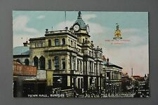 R&L Postcard: Town Hall Burnley, Coat of Arms Crest, GD&D