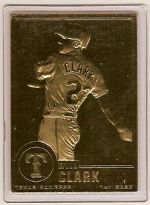 WILL CLARK 22kt Gold Danbury Mint Card
