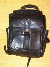 Wilson's Leather Backpack Brown Metal Flap Closure Unisex Small Bag School