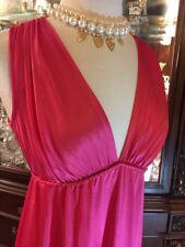 Nightgown Vintage 70's Vanity Fair nylon Long Sz 34 Pink M Grecian Dressing Gown