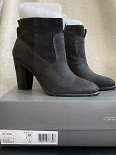 Vince Camuto Feina Bootie Women's Black Leather Ankle Boots Bootie 7.5 Brand New