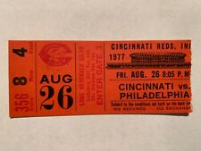 Tom Seaver Career win 197 Ticket Stub 8/26/77 Reds defeat Phillies Carlton Mets