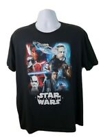 Official Star Wars Rey Finn Luke Skywalker R2D2 The Last Jedi Black T-shirt XL