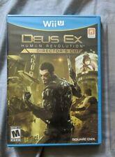 Deus Ex: Human Revolution - Director's Cut w/Plas. Sleeve (Nintendo Wii U, 2013)
