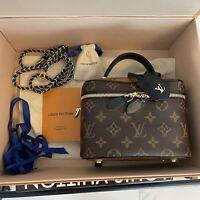 NIB Louis Vuitton Vanity PM w/ Strap Monogram Reverse Shoulder Bag  M45165